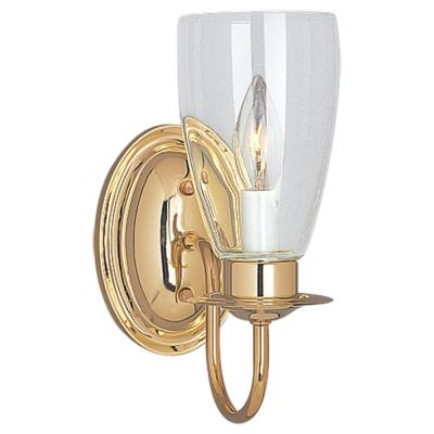 Sea Gull Lighting 4167-02 Brass Wall Sconce