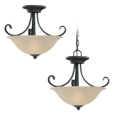 Sea Gull Lighting 51120-820 Del Prato - Two Light Convertible Semi-Flush Mount
