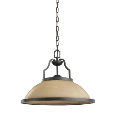 Sea Gull Lighting 65520-845 One Light Bronze Pendant