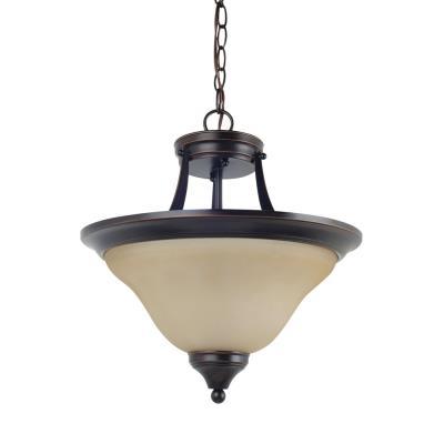 Sea Gull Lighting 77174-710 Brockton - Two Light Convertible Semi-Flush Mount