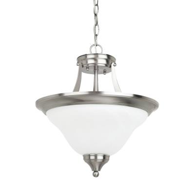 Sea Gull Lighting 77174-962 Brockton - Two Light Convertible Semi-Flush Mount