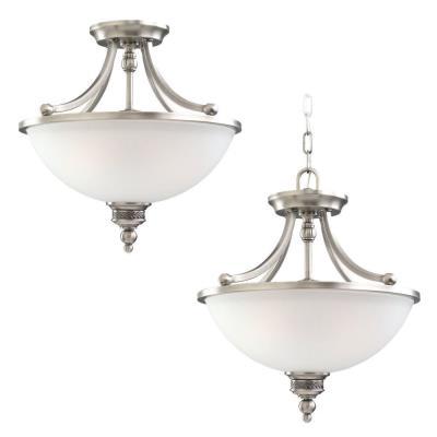 Sea Gull Lighting 77350-965 Two Light Convertible Semi-flush/pendant
