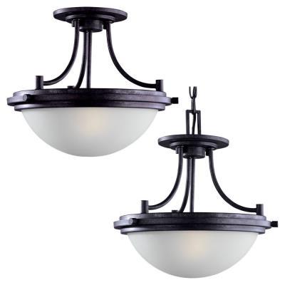 Sea Gull Lighting 77660 Winnetka - Two Light Ceiling Semi-Flush/Pendant