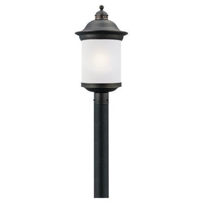 Sea Gull Lighting 89298BL-71 Hermitage - One Light Outdoor Post Lantern