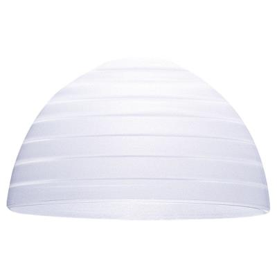 Sea Gull Lighting 94245-33 White Glass Dome With Etched Glass Step Design