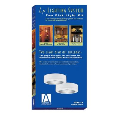 Sea Gull Lighting 9888-15 Two Light White Plug-in Ambiance Disk Kit