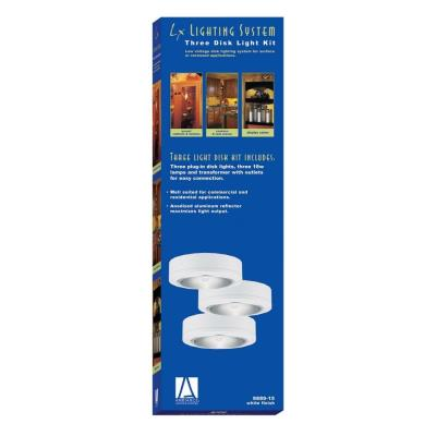 Sea Gull Lighting 9889-15 Three Light White Plug-in Disk  Kit