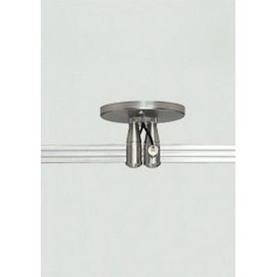 "Tech Lighting 700MO2P4C40 Accessory - 4"" Round Power Feed Canopy Dual Feed Two-Circuit Monorail"