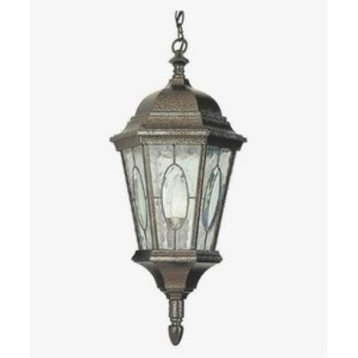 Trans Globe Lighting 4717 Watered Windows - One Light Outdoor Hanging Lantern