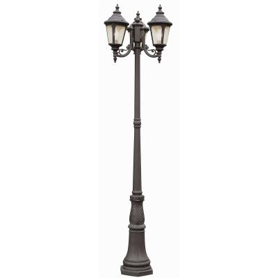 Trans Globe Lighting 5048 BC Three Light Outdoor Pole Mount