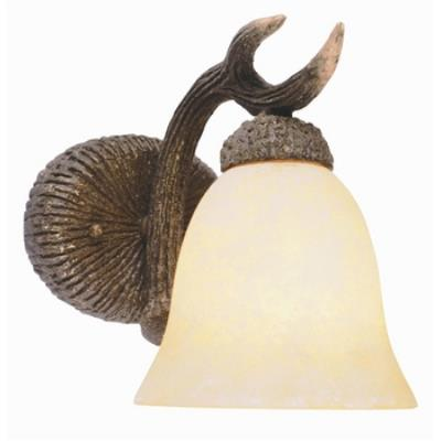 Trans Globe Lighting 7081 One Light Deer Antler Wall Sconce