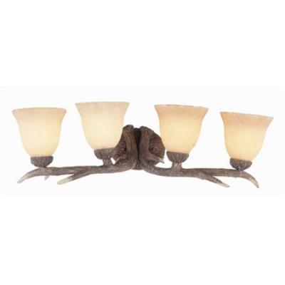 Trans Globe Lighting 7084 Four Light Deer Antler Wall Sconce