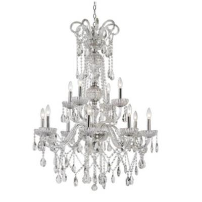 Trans Globe Lighting HL-12 PC HL - Twelve Light 2-Tier Chandelier