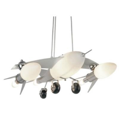 Trans Globe Lighting KDL-852 Six Light Fighter Jet Airplane Drop Pendant