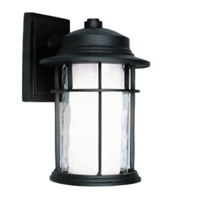 "Trans Globe Lighting LED-5290 BK LED - 12"" Outdoor Wall Lantern"