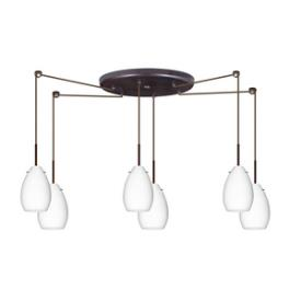Besa Lighting Pera 6 Pendant-6 Pera-6 - Six Light Pendant
