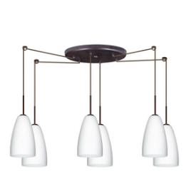 Besa Lighting Riva 9 Pendant-6 Riva-9 - Six Light Pendant