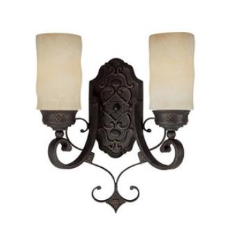 Capital Lighting 1907RI-125 River Crest - Two Light Wall Sconce