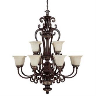 Capital Lighting 3632CB-283 Chesterfield - Twelve Light Chandelier