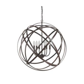 Capital Lighting 4236RS Axis - Six Light Pendant