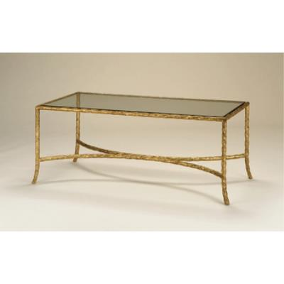 Currey and Company 4057 Gilt Twist Rectangular Table