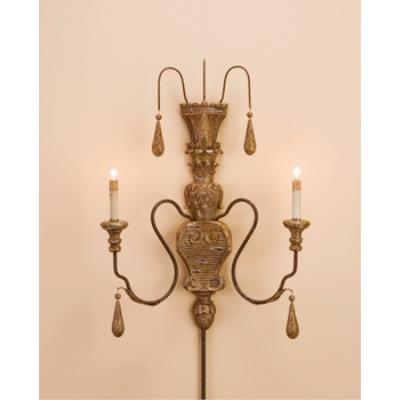 Currey and Company 5325 2 Light Mansion Wall Sconce