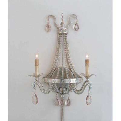 Currey and Company 5780 2 Light Chartres Wall Sconce