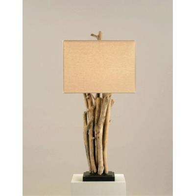 Currey and Company 6344 1 Light Driftwood Table Lamp
