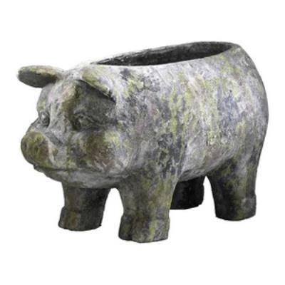 "Cyan lighting 01352 24"" Aged Pig Planter"