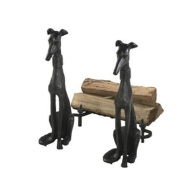 "Cyan lighting 01855 24"" Dog Andiron - Set of 2"