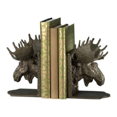 "Cyan lighting 03072 10"" Moosehead Bookend - Set of 2"