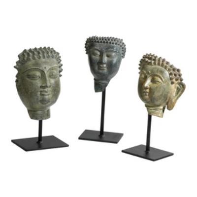 "Cyan lighting 04334 9"" Buddha On Stand Sculpture #2"
