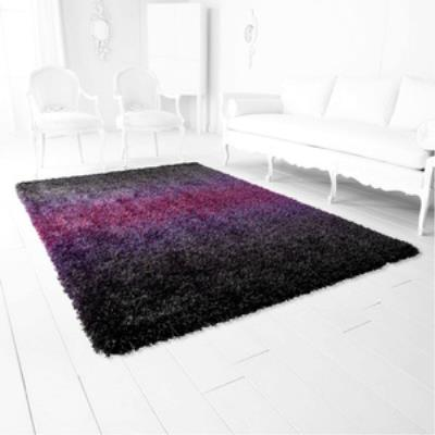 Cyan lighting 05790 Noir Viola - 7.7 Inch Rug
