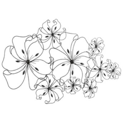 "Cyan lighting 05833 Six Flower Fancy - 52"" Decorative Wall Art"