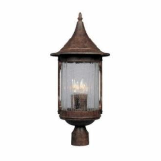 Designers Fountain 20936-CHN Canyon Lake - Four Light Outdoor Post Lantern