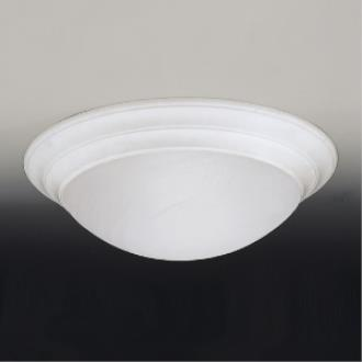 Designers Fountain 1245XL-WH 4 Light Flush Mount With Alabaster Glass Shade