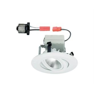 Designers Fountain LED4742-WH 4 Inch LED Recessed Retrofit Gimbal Trim
