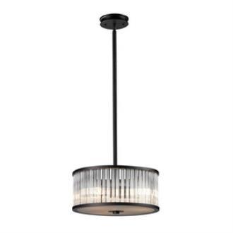 Elk Lighting 10328/3 Braxton - Three Light Semi-Flush Mount