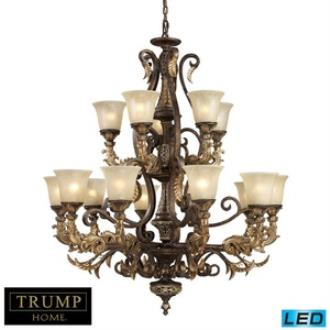 Elk Lighting 2166/10+5-LED Regency - Fifteen Light Chandelier