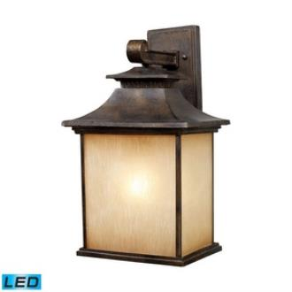 Elk Lighting 42182/1-LED San Gabriel - One Light Outdoor Wall Sconce