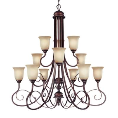 Jeremiah Lighting 21712-AGT Preston Place - Twelve Light Chandelier
