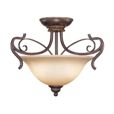 Jeremiah Lighting 21722-AGT Preston Place - Two Light Semi-Flush Mount