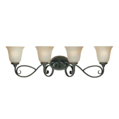 Jeremiah Lighting 24204-MB Barret Place - Four Light Vanity