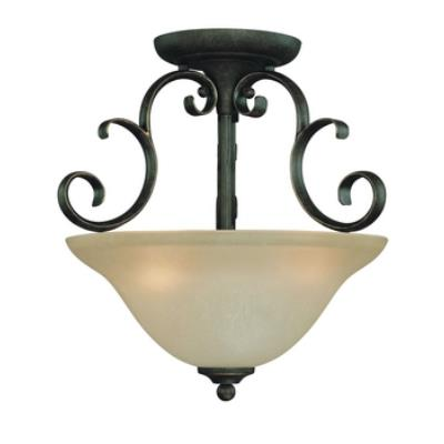 Jeremiah Lighting 24263-MB Barret Place - Three Light Semi-Flush Mount