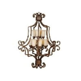 Jeremiah Lighting 8139AG12 Riata - Twelve Light 2-Tier Extra-Large Chandelier