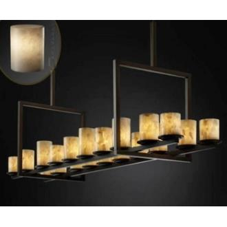 Justice Design CLD-8717 Dakota 20-Light Bridge Chandelier