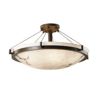 """Justice Design FAL-9684 36"""" Round Semi-Flush Bowl"""