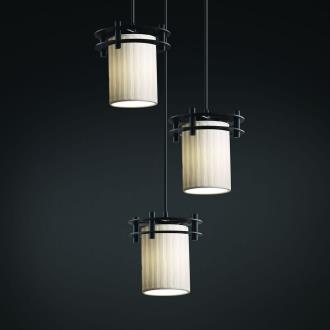 Justice Design POR-8266 Limoges - Three Light Cluster Circa Pendant
