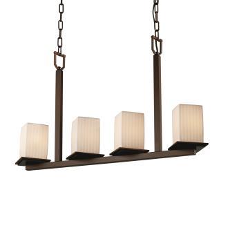 Justice Design POR-8678 Montana - Four Light Bar Chandelier
