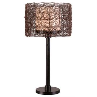 Kenroy Lighting 32219BRZ Tanglewood - One Light Outdoor Table Lamp